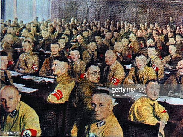 German nazi Party members in the Reichstag Berlin 1932