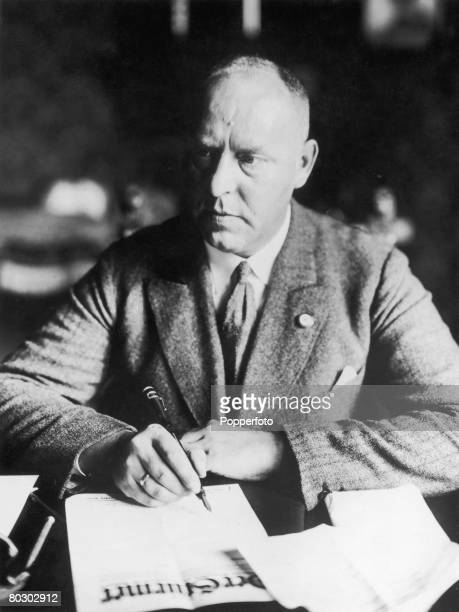 German Nazi Party politician Gregor Strasser with a copy of the party's newspaper 'Der Sturmer' circa 1930 Strasser was assassinated by the Gestapo...