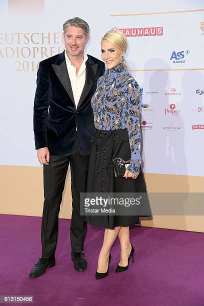 German new anchor Judith Rakers and her husband Andreas Pfaff attend the Deutscher Radiopreis 2016 on October 6 2016 in Hamburg Germany