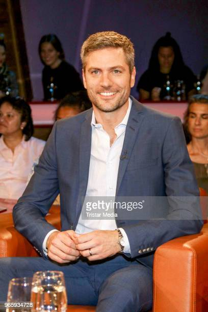 German news anchor Ingo Zamperoni during the NDR Talk show on June 1, 2018 in Hamburg, Germany.
