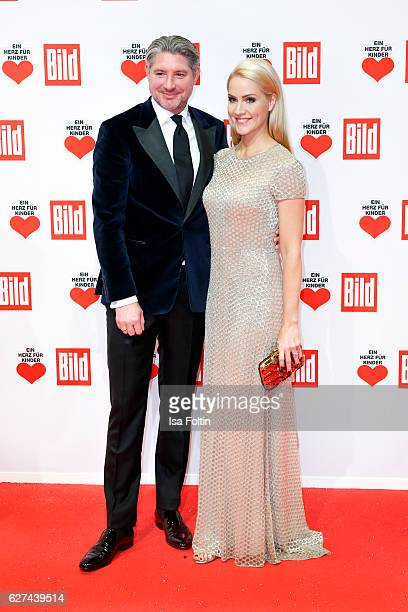 German news anchor Judith Rakers and her husband Andreas Pfaff attend the Ein Herz Fuer Kinder gala on December 3 2016 in Berlin Germany