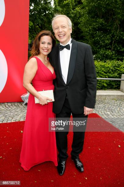 German News Anchor Tom Buhrow and his wife Sabine Stamer attend the Bayerischer Fernsehpreis 2017 at Prinzregententheater on May 19 2017 in Munich...
