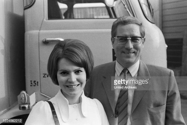 German news presenter and TV journalist and his wife Mady Riehl, Germany late 1960s.
