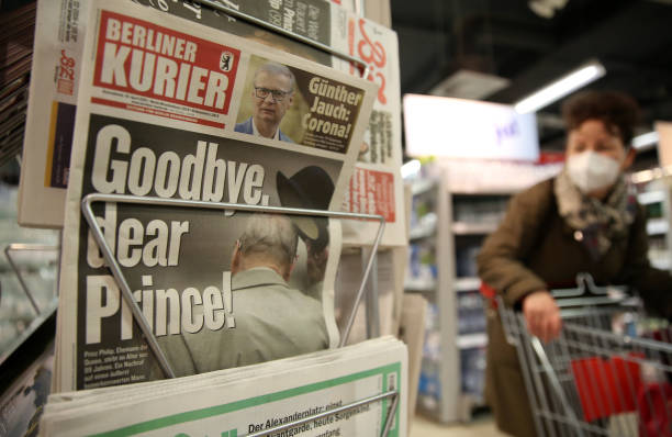 DEU: Germany Front Pages The Day After Duke Of Edinburgh Died