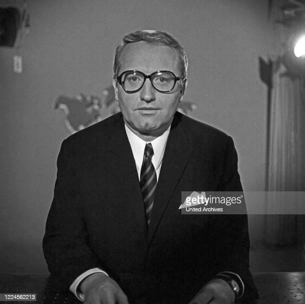 German newspresenter and radio speaker Werner Veigel at Hamburg Germany 1960s