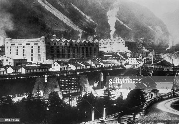 German nitrate plant at Rjukan Norway where Germans tried to develop an atomic bomb This plant was damaged and the program delayed by a British...