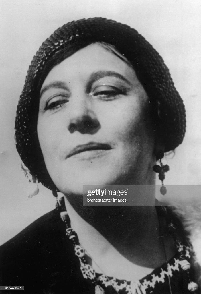 German opera and concert singer Sigrid Onegin. About 1935. Photograph. (Photo by Imagno/Getty Images) Die deutsche Opern- und Konzertsängerin Sigrid Onégin. Um 1935. Photographie.