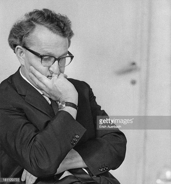 German opera director Wolfgang Wagner at the Bayreuth Festival in Germany 27th July 1963 The grandson of composer Richard Wagner he is the director...