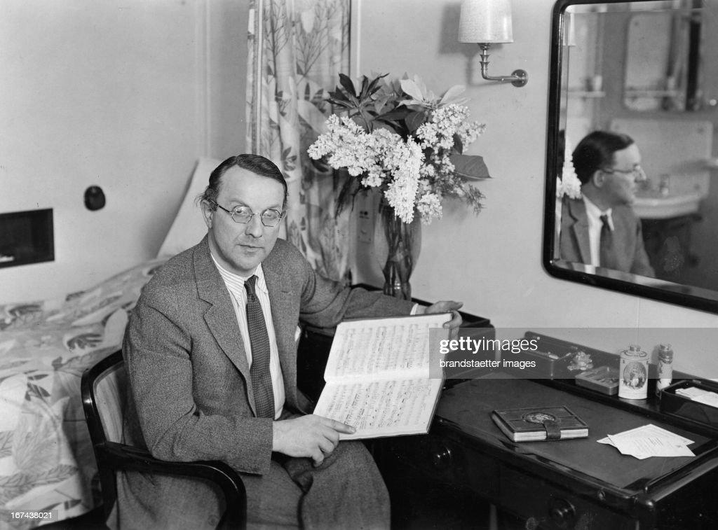 German opera singer Michael Bohnen. About 1930. Photograph. (Photo by Imagno/Getty Images) Der deutsche Opernsänger Michael Bohnen. Um 1930. Photographie.