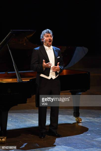 German operatic tenor Jonas Kaufmann performs at Shenzhen Concert Hall on November 11 2017 in Shenzhen Guangdong Province of China
