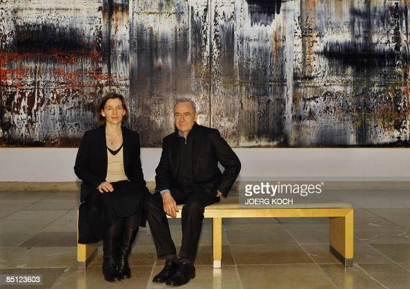 german painter gerhard richter and his w pictures getty images. Black Bedroom Furniture Sets. Home Design Ideas