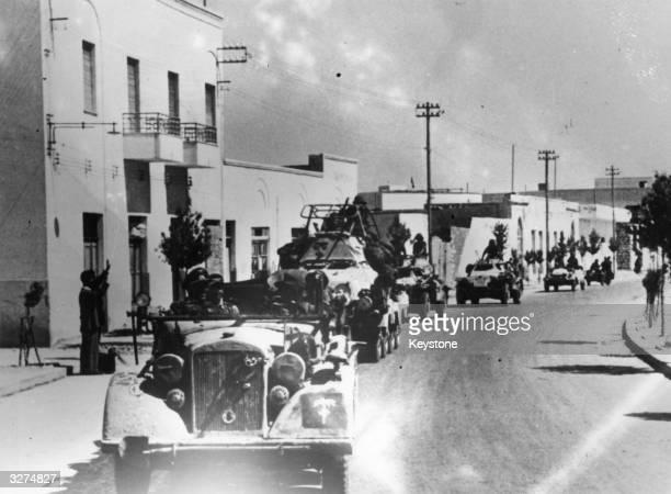 German Panzer division arriving in Benghazi Libya