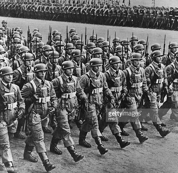German parachute troops parading circa 1939
