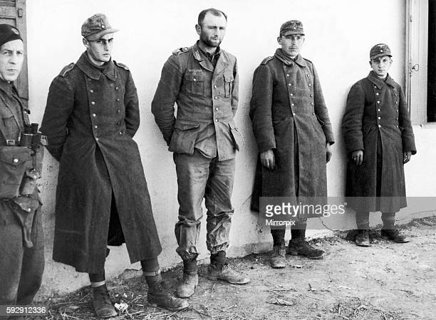 German paratroopers captured by forces of the British First Army in recent fighting on the Tunisian front during the Second World War. 25th March...