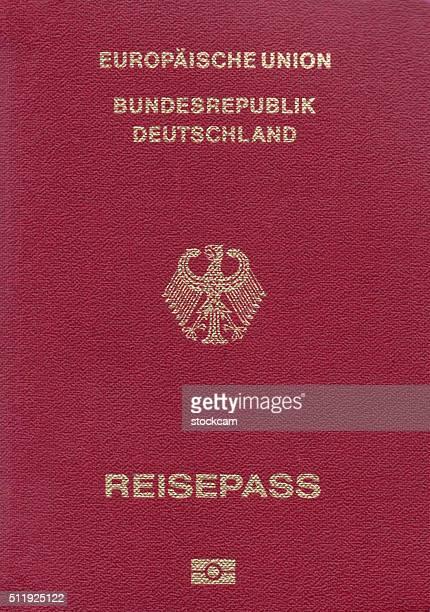 German passport close-up