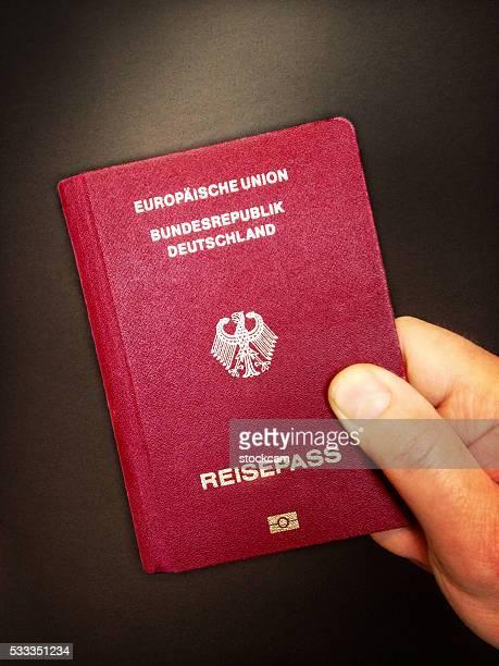 Deutsche passport-Nahaufnahme