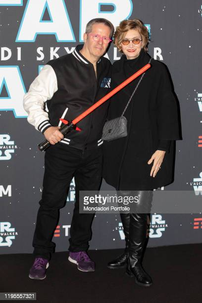 German pastry chef Ernst Knam and his wife Alessandra Mion during the premiere of the film Star Wars The rise of Skywalker on December 17 2019 in...