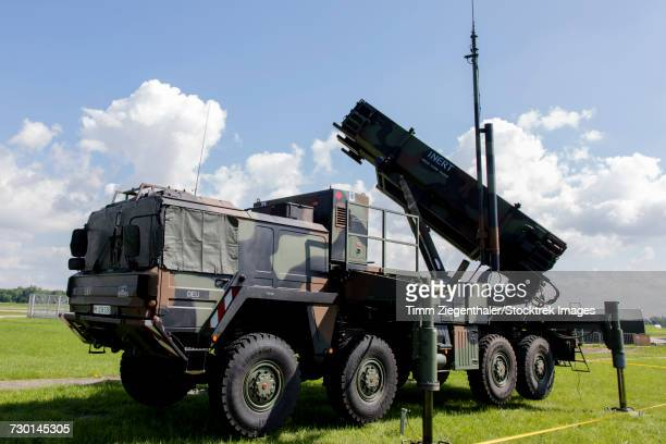 German Patriot surface-to-air missile system, Neuberg, Germany.