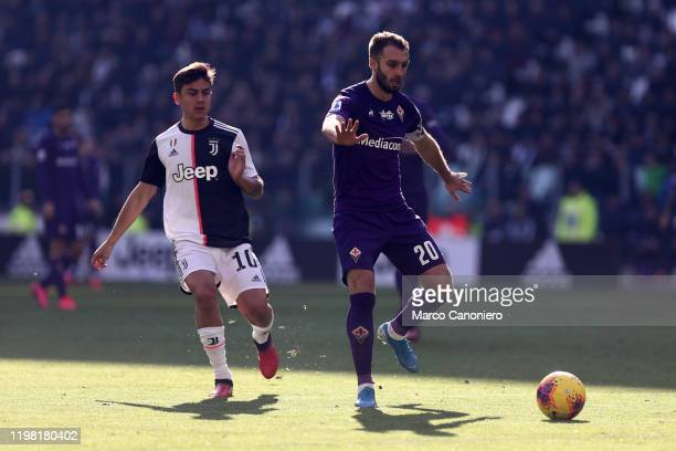 German Pezzella of Ac Fiorentina in action during the the Serie A match between Juventus Fc and Acf Fiorentina Juventus Fc wins 30 over Acf Fiorentina