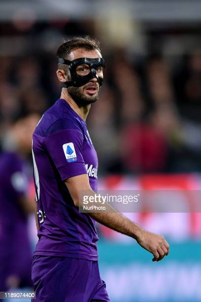 German Pezzella of ACF Fiorentina during the Serie A match between ACF Fiorentina and FC Internazionale at Stadio Artemio Franchi Florence Italy on...