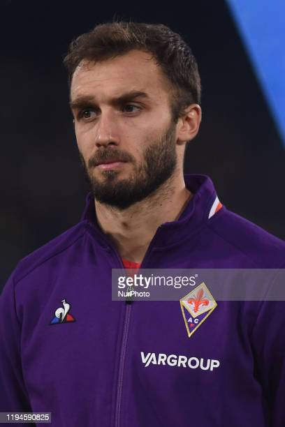 German Pezzella of ACF Fiorentina during the Serie A match between SSC Napoli and ACF Fiorentina at Stadio San Paolo Naples Italy on 18 January 2020
