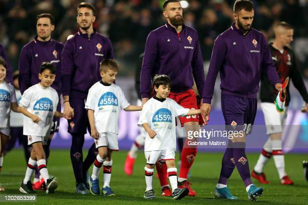 German Pezzella of ACF Fiorentina during the Serie A match between ACF Fiorentina and AC Milan at Stadio Artemio Franchi on February 22 2020 in...