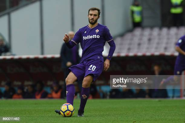 German Pezzella of ACF Fiorentina during the Serie A TIM match between SSC Napoli and ACF Fiorentina at Stadio San Paolo Naples Italy on 10 December...
