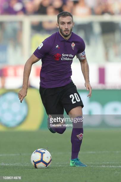German Pezzella of ACF Fiorentina in action during the Serie A match between ACF Fiorentina and SPAL at Stadio Artemio Franchi on September 22 2018...