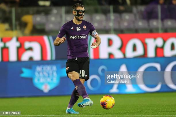 German Pezzella of ACF Fiorentina in action during the Serie A match between ACF Fiorentina and AS Roma at Stadio Artemio Franchi on December 22 2019...