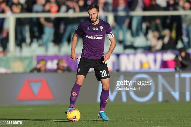 German Pezzella of ACF Fiorentina in action during the Serie A match between ACF Fiorentina and SPAL at Stadio Artemio Franchi on January 12 2020 in...