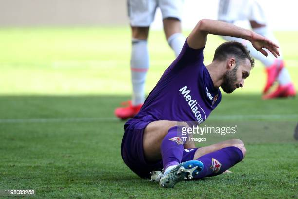 German Pezzella of ACF Fiorentina looks dejected during the Serie A match between Juventus and ACF Fiorentina at Allianz Stadium on February 02 2020...