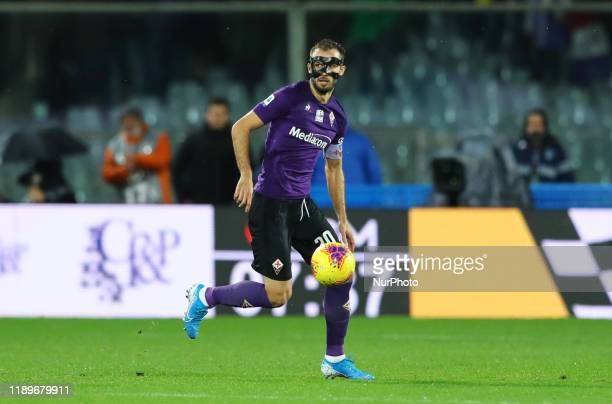 German Pezzella of Fiorentina during the football Serie A match Ac Fiorentina v AS Roma at the Artemio Franchi Stadium in Florence Italy on December...