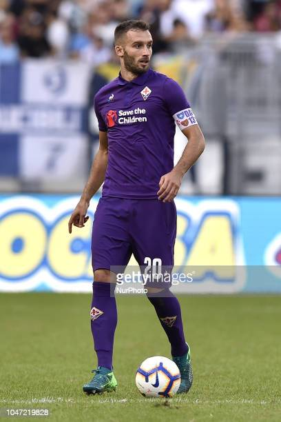 German Pezzella of Fiorentina during the Serie A match between Lazio and Fiorentina at Stadio Olimpico Rome Italy on 7 October 2018