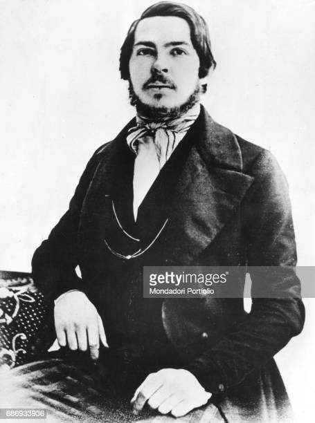 German philosopher and economist Friedrich Engels, a founder of Marxism. Germany, 1845