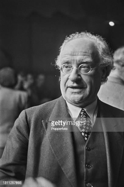 German philosopher Arthur Liebert attends a meeting of Anti Nazi German nationals aiming to form a Free Germany Movement at Trinity Church Hall in...