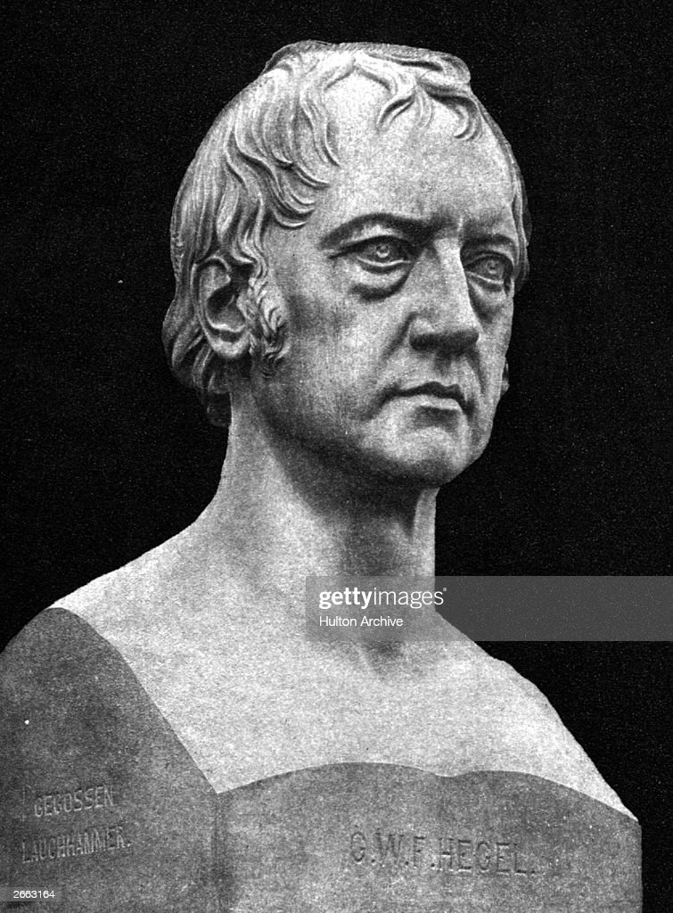 Bust Of Hegel : News Photo
