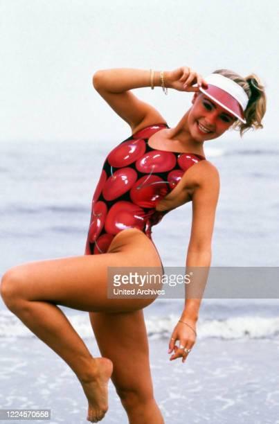 German photo model and Miss Germany Anja Hoernich, circa 1990.