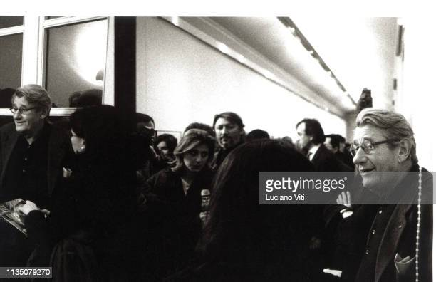 German photographer Helmut Newton during the preview of his exhibition '72 hours in Rome', Galleria Comunale d'Arte Moderna and Contemporanea, Rome,...