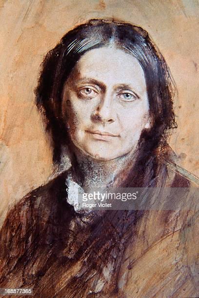 German pianist Clara Schumann nee Wieck circa 1878 She was the wife of German composer Robert Schumann German composer A painting by Franz von...