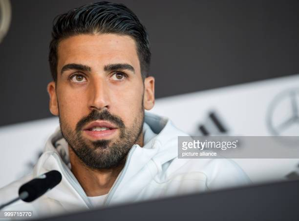 German player Sami Khedira during a press conference regarding the world cup qualification at the Mercedes Benz Museum in Stuttgart, Germany, 3...
