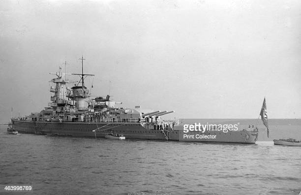 German pocket battleship 'Admiral Graf Spee' 1937 The 'Graf Spee' attending the Fleet Review for the coronation of King George VI at Spithead...