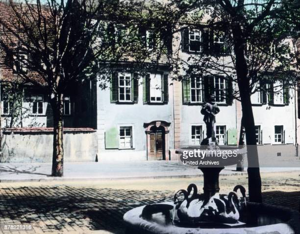German poet Friedrich Schiller bought this house in 1802 at Weimar Thuringia 1920s