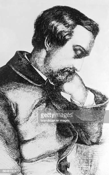 German poet Heinrich Heine Germany Etching [Der Dichter Heinrich Heine Deutschland Radierung]