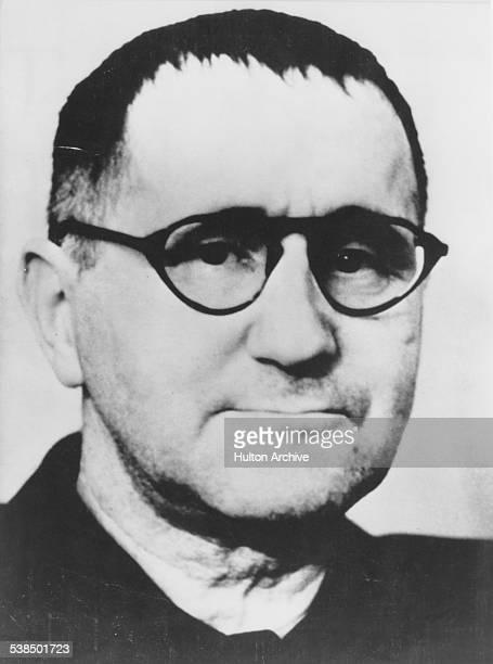 German poet playwright and theatre director Bertolt Brecht circa 1955