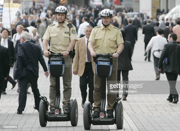 German Police is testing the new Segway scooter to see if the vehicle is suitable for policework during the pressdays of the 62nd International...