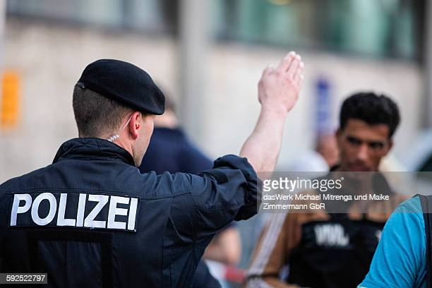 German Police Officer Sends Refugee / Immigrant from Syria away German Border Passau Germany