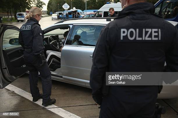 German police question a Swedish national they suspected of attempting to smuggle three men from Iraq into Germany at a police checkpoint near the...