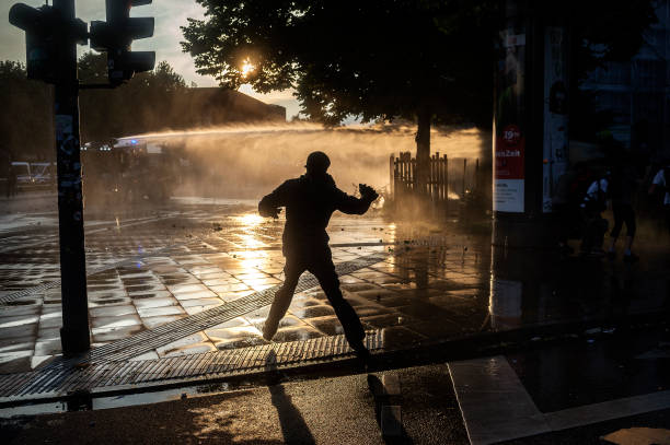 three days riots against g20 summit in hamburg pictures getty images