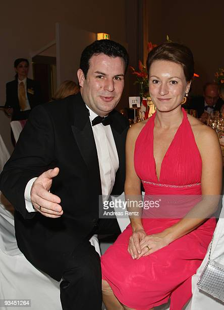 German politican Hubertus Heil and his wife Solveig Orlowski attend the annual press ball 'Bundespresseball' at the Intercontinental Hotel in Berlin...