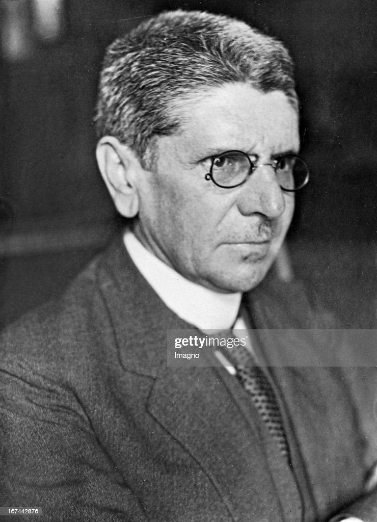 German politican Johannes (Hans) Bell (1868-1949). 1928. Photograph. (Photo by Imagno/Getty Images) Der deutsche Politiker Johannes (Hans) Bell (18681949). 1928. Photographie.